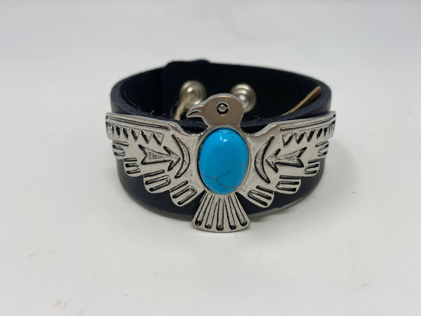 American Eagle Cuff Black Bracelet, JEWERLY, Most Wanted USA, BAD HABIT BOUTIQUE