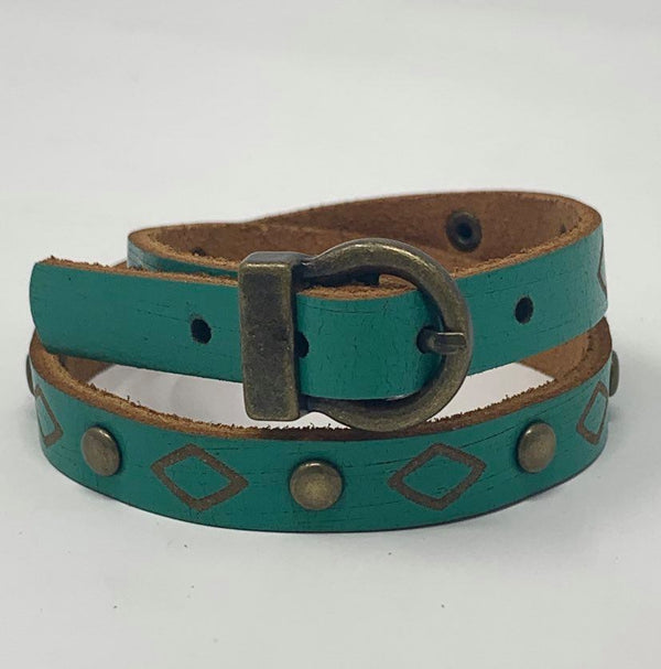 Geo Turquoise Buckle Bracelet, JEWERLY, Most Wanted USA, BAD HABIT BOUTIQUE