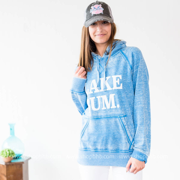 (LIMITED EDITION ) Lake Bum Hoodie 8915 - Blue - BAD HABIT BOUTIQUE