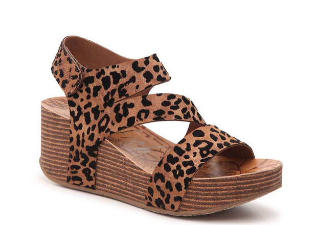 Cheetah Wedge Sandal- LeeLee BLOWFISH | FINAL SALE, SHOES, Blowfish, BAD HABIT BOUTIQUE