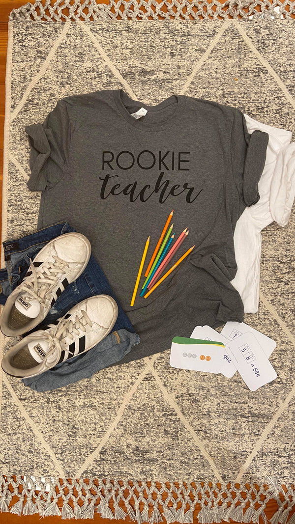 Rookie Teacher Unisex T-shirt, CLOTHING, BAD HABIT APPAREL, BAD HABIT BOUTIQUE