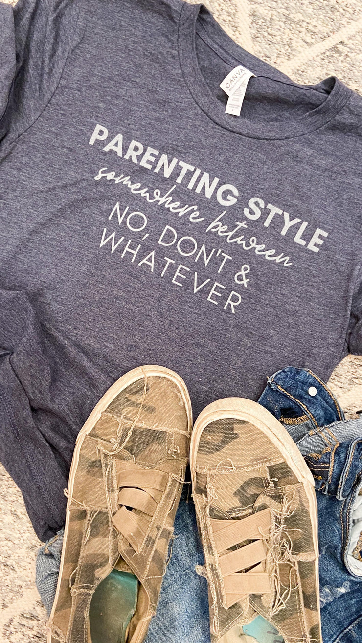 Parenting Style Unisex Tee Navy