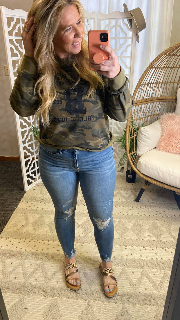 Judy Blue Fray Skinny Jean | FINAL SALE, CLOTHING, JUDY BLUE, BAD HABIT BOUTIQUE