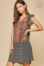 Embroidered in Love Shift Dress - Andree By Unit