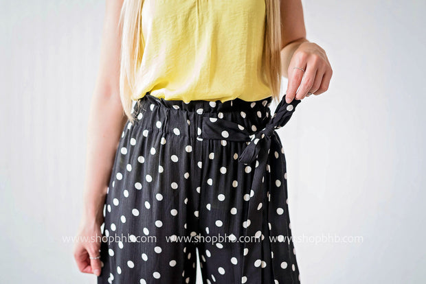 POLKA DOT PANTS | Black