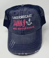Lake Forecast Sunny w/ a Chance of Drinking Trucker Hat, ACCESSORIES, BAD HABIT APPAREL, BAD HABIT BOUTIQUE