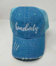 blue homebody trucker hat