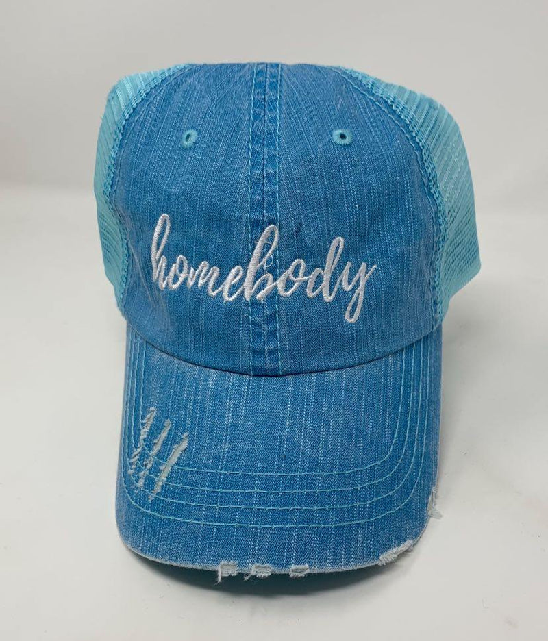 Homebody Blue Trucker Hat, ACCESSORIES, BAD HABIT APPAREL, BAD HABIT BOUTIQUE