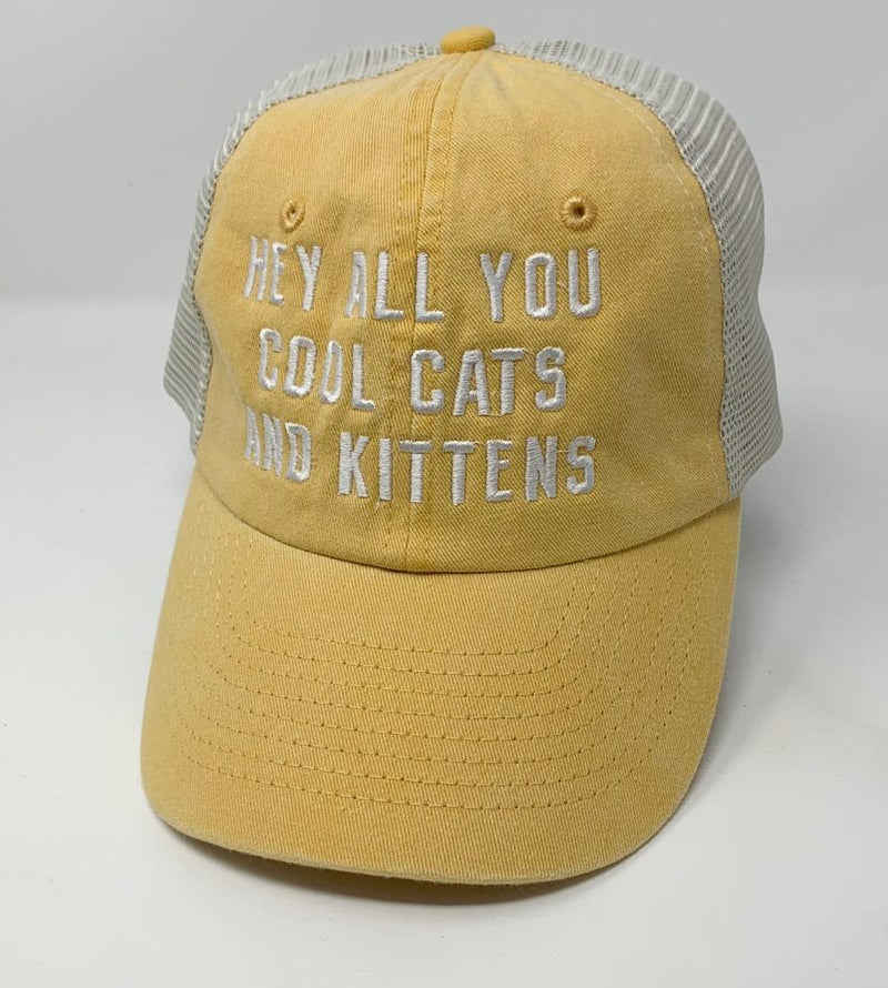 Hey All You Cool Cats and Kittens Hat, ACCESSORIES, BAD HABIT APPAREL, BAD HABIT BOUTIQUE