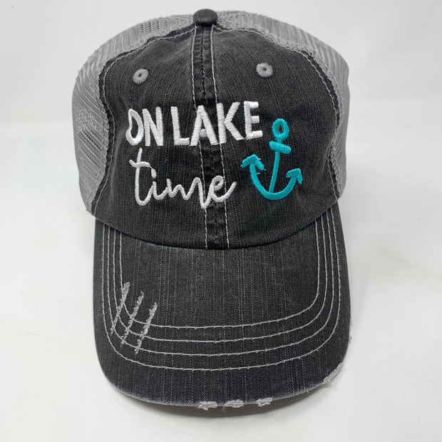 On Lake Time Anchor Trucker Hat, ACCESSORIES, BAD HABIT APPAREL, BAD HABIT BOUTIQUE