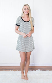 Striped Dress | Ivory