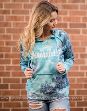 Beachaholic Tie Dye Hoodie, BEACH, GRAPHICS, BAD HABIT BOUTIQUE