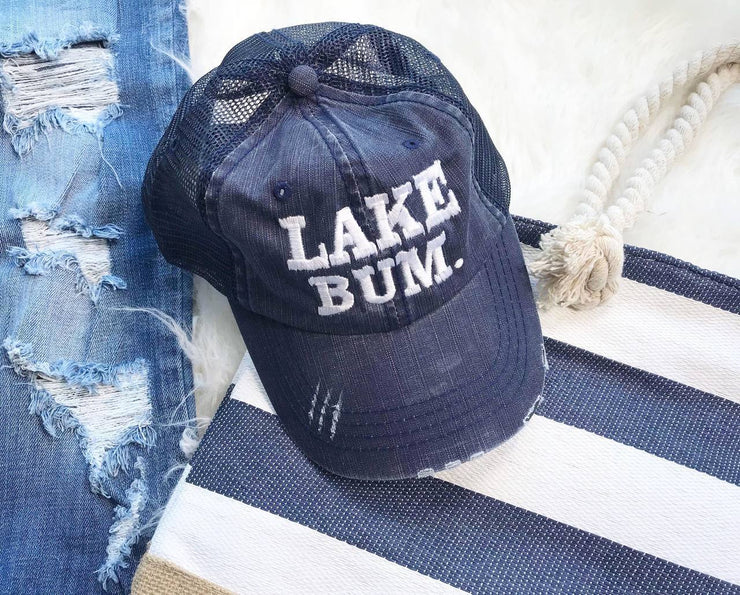 Lake Bum Hat | Navy, LAKE, vendor-unknown, badhabitboutique