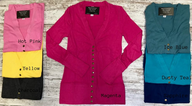 New Have ARRIVED in our snap cardigans!