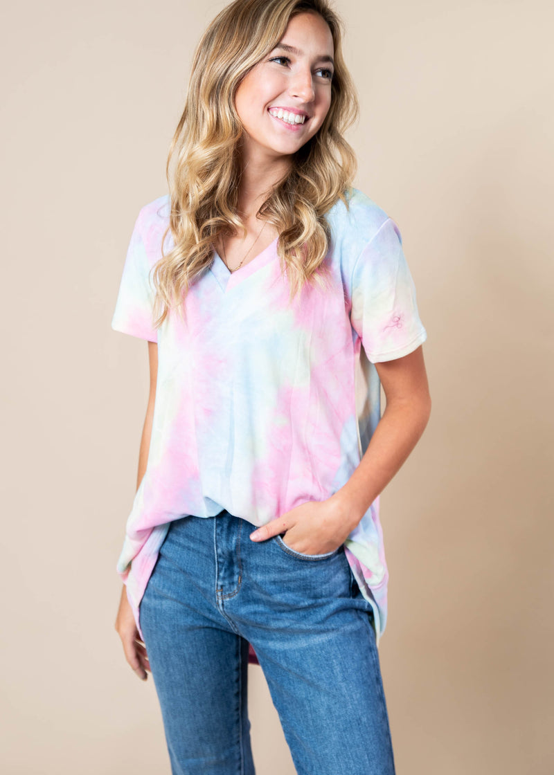 Soft Hues of Tie Dye Top | FINAL SALE, CLOTHING, Heimish, BAD HABIT BOUTIQUE