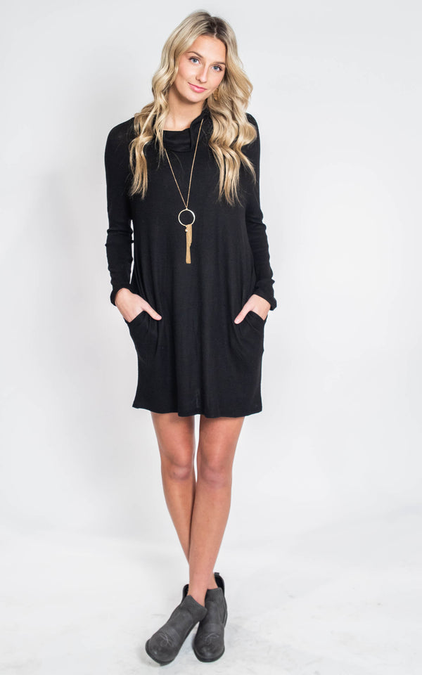 The Alexa Cowl Neck Sweater Dress, CLOTHING, 2 Hearts, BAD HABIT BOUTIQUE