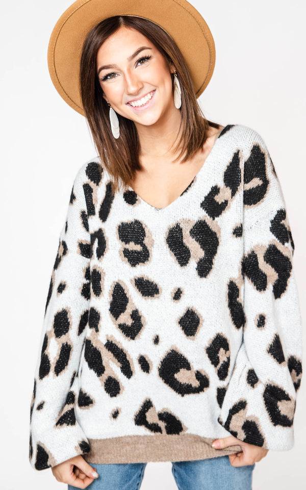 Leopard Sweater - Miracle, CLOTHING, MIRACLE, BAD HABIT BOUTIQUE