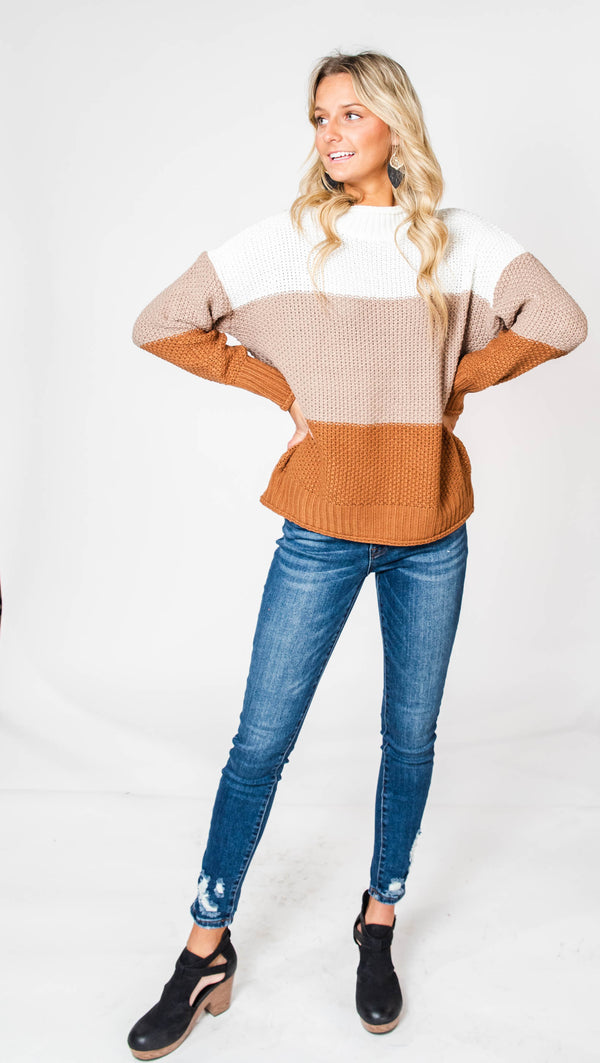 Colorblock Sweater, CLOTHING, MIRACLE, BAD HABIT BOUTIQUE