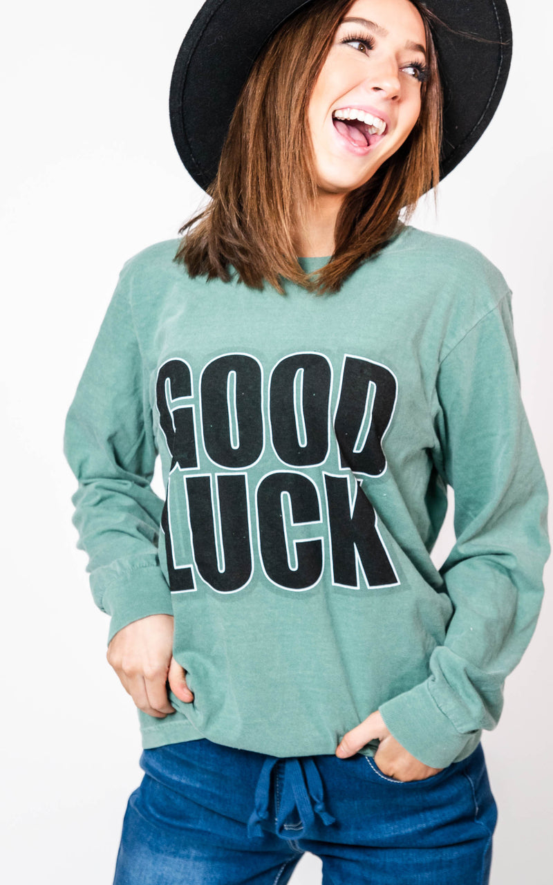 Good Luck Long Sleeve Top, CLOTHING, BAD HABIT APPAREL, BAD HABIT BOUTIQUE