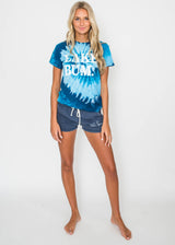 Lake Bum Tie Dye Tee - Navy/Blue Swirl, GRAPHICS, BAD HABIT APPAREL, BAD HABIT BOUTIQUE