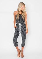 sunkissed stripe jumpsuit