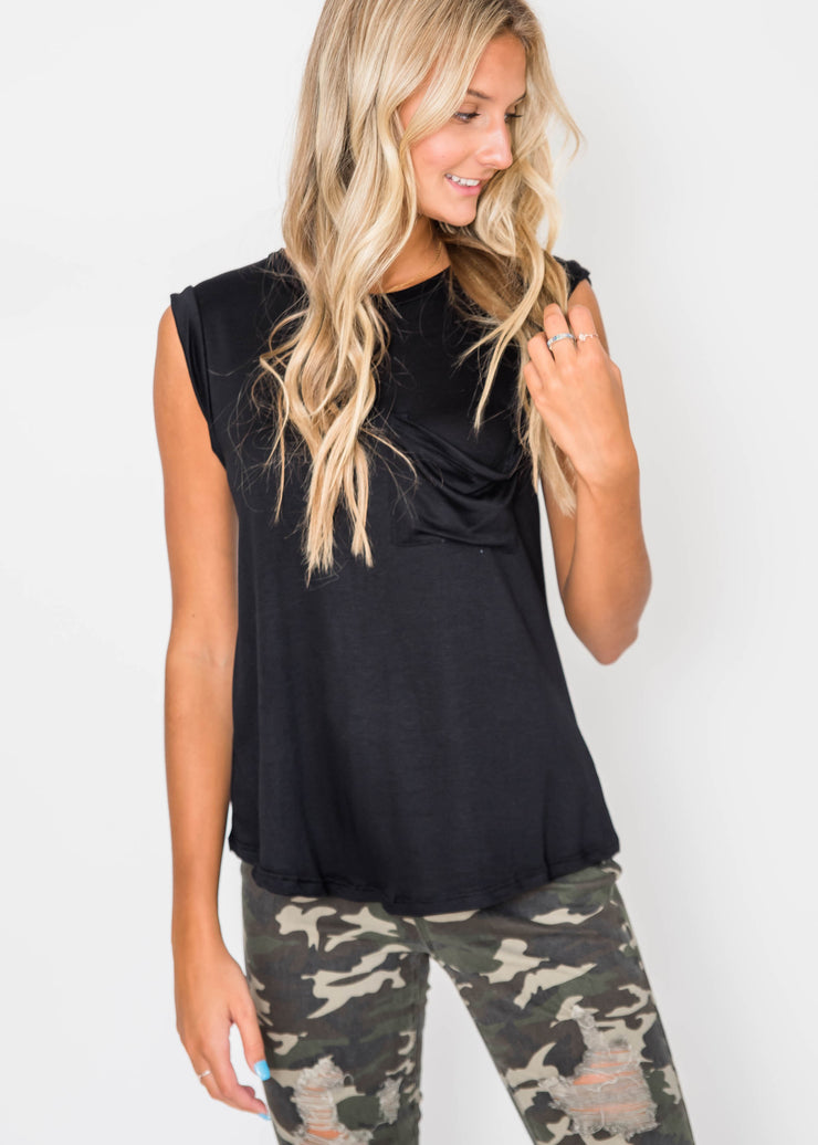 Makes Moves Solid Muscle Tank Top | FINAL SALE, CLOTHING, Lovely Melody, BAD HABIT BOUTIQUE