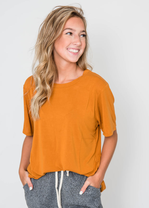 basic t-shirt cinnamon