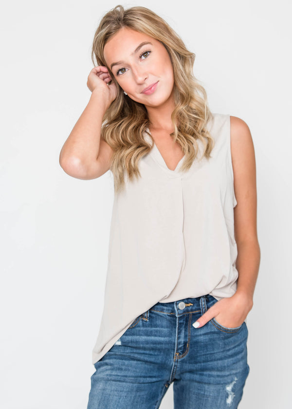 Inspired Tank Top - Moth Gray, CLOTHING, HyFve, BAD HABIT BOUTIQUE