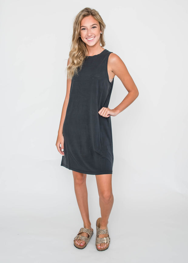 The Slick Sleeveless Midi Dress