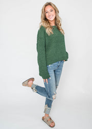 dark green chenille sweater
