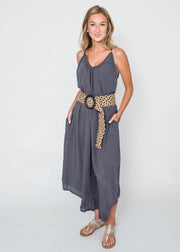 sun days jumpsuit charcoal