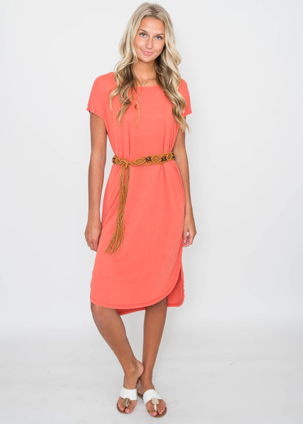 Chili Drop Shoulder Midi Dress