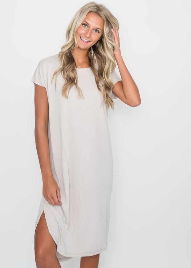 Drop Shoulder Midi Dress, CLOTHING, HyFve, BAD HABIT BOUTIQUE