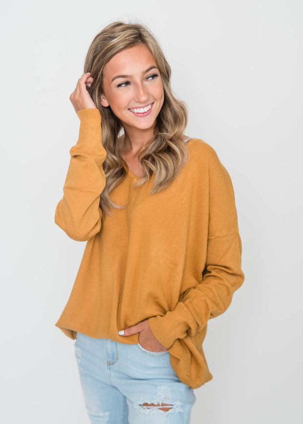 marigold all about the back sweater