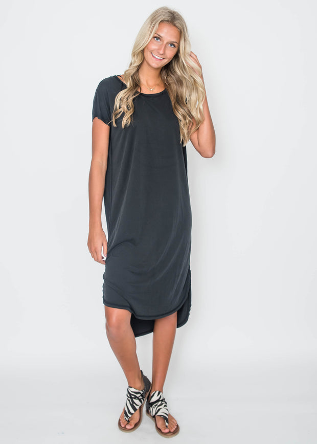 Drop Shoulder Midi Dress