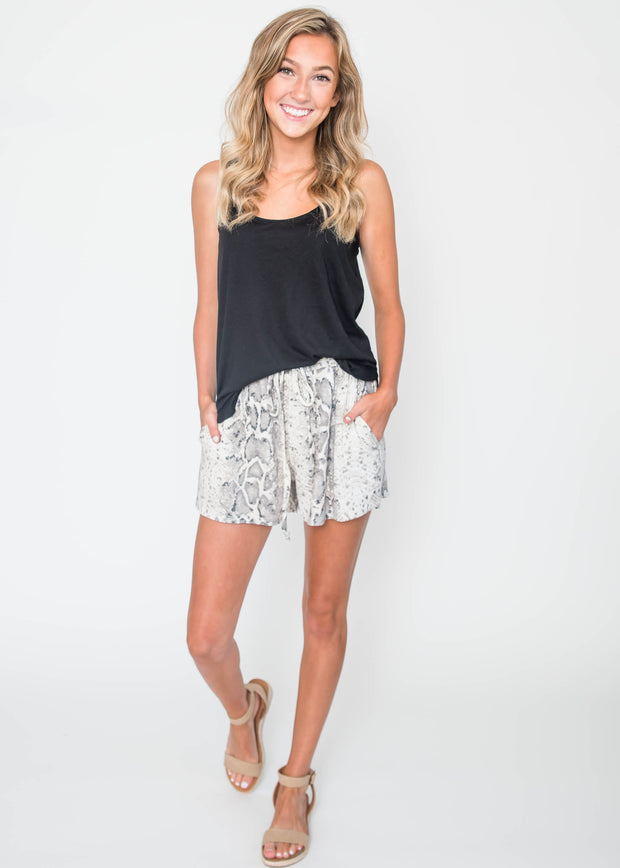 Lounge Snake Print Thermal Shorts | FINAL SALE, CLOTHING, Cherish, BAD HABIT BOUTIQUE
