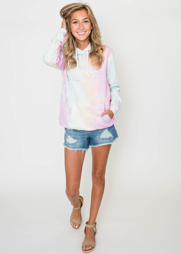 Tropic Like Its Hot Tie Dye Pullover Hoodie | FINAL SALE, CLOTHING, Exist Sport Line, BAD HABIT BOUTIQUE