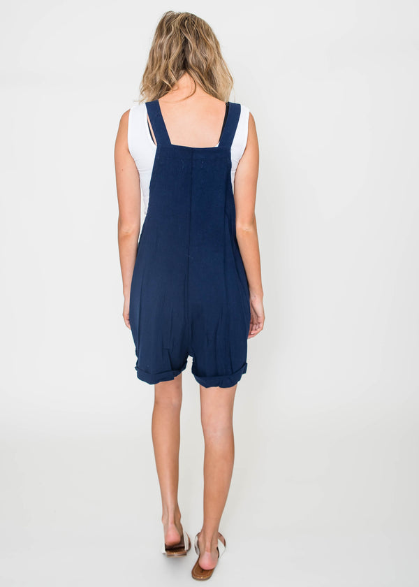 Romper Overalls - Navy | FINAL SALE, CLOTHING, Ginger G, BAD HABIT BOUTIQUE