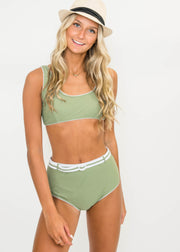 Here's the Scoop Belted Two Piece Bikini