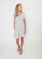 Striped Short Sleeve Tunic | FINAL SALE, CLOTHING, Ginger G, BAD HABIT BOUTIQUE