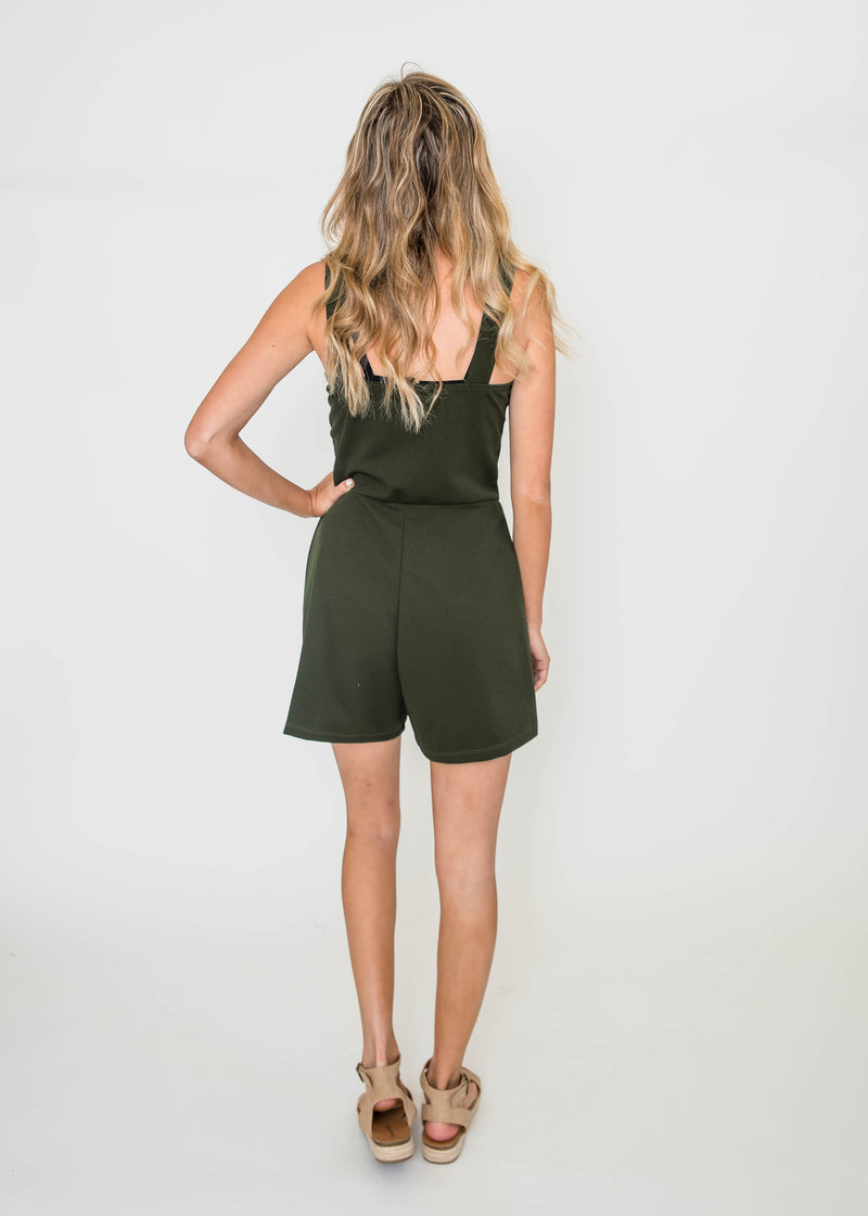 On My Way Romper - Olive | FINAL SALE, CLOTHING, Ginger G, BAD HABIT BOUTIQUE