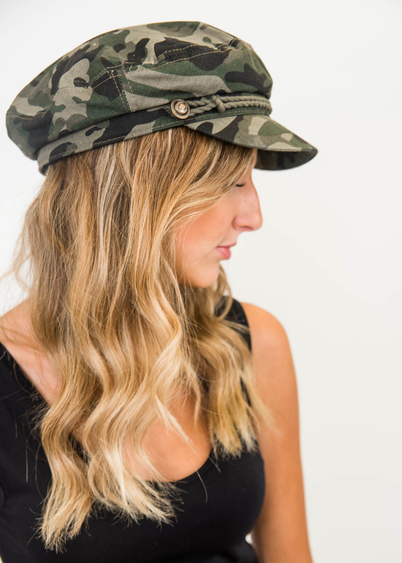 Camo Gasby Hat with Rope, ACCESSORIES, JOIA, BAD HABIT BOUTIQUE