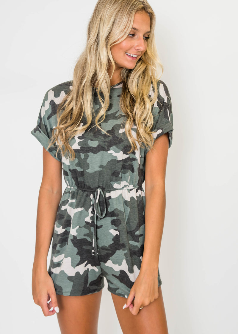 The Edge Camo Romper | FINAL SALE, CLOTHING, Ginger G, BAD HABIT BOUTIQUE