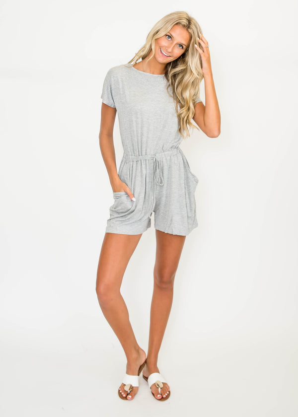 Summer Loving Romper - Heather Gray | FINAL SALE, CLOTHING, Cherish, BAD HABIT BOUTIQUE
