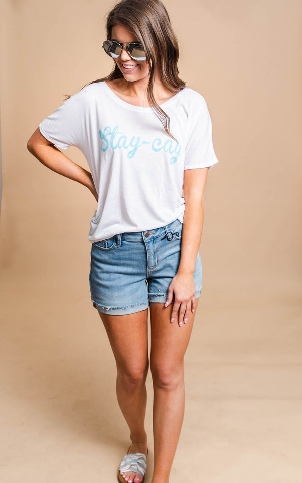 stay-cay slouchy tee