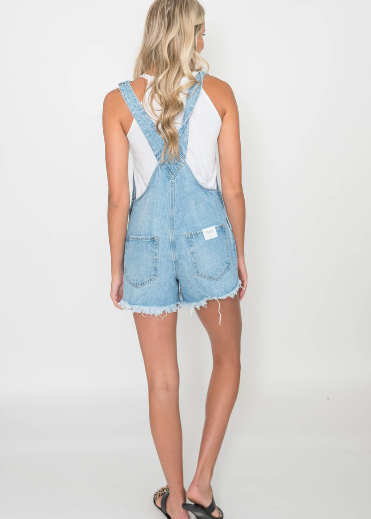 Boyfriend Short Overall Light Denim - Cello | FINAL SALE, CLOTHING, cello, BAD HABIT BOUTIQUE