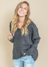 Ribbed Crew Sweater - Miracle, CLOTHING, MIRACLE, BAD HABIT BOUTIQUE