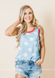 All Over Stars Tank, Tank, BiBi, BAD HABIT BOUTIQUE