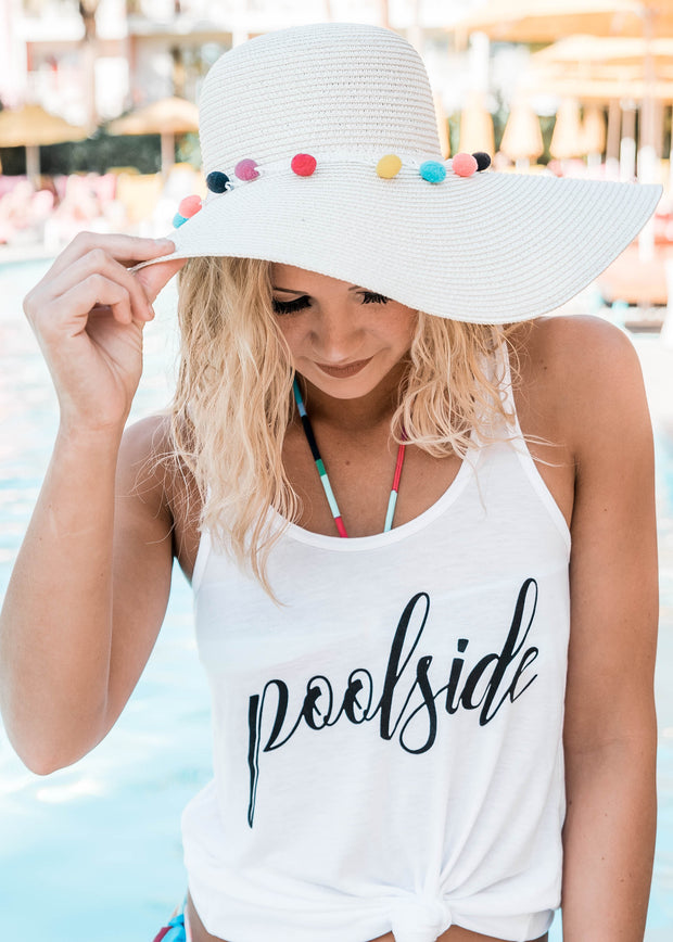 Poolside White Tank, CLOTHING, BAD HABIT APPAREL, BAD HABIT BOUTIQUE