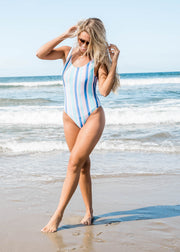 stripes away one piece swimsuit
